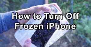 How to Power off Frozen iPhone