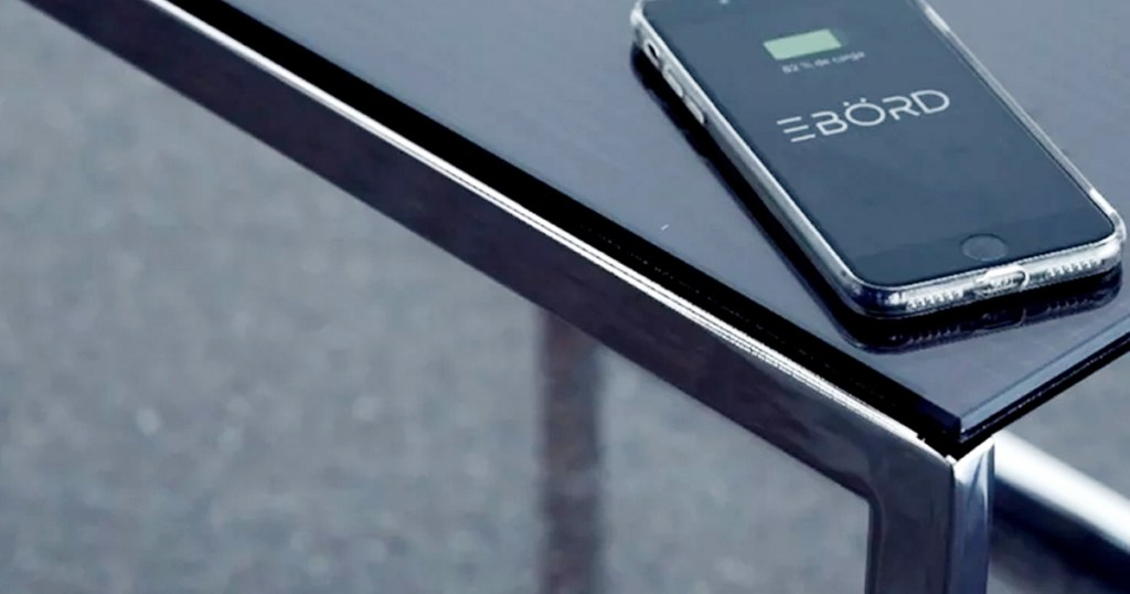 Solar Powered Smart Table That Can Charge Multiple Devices Continuously