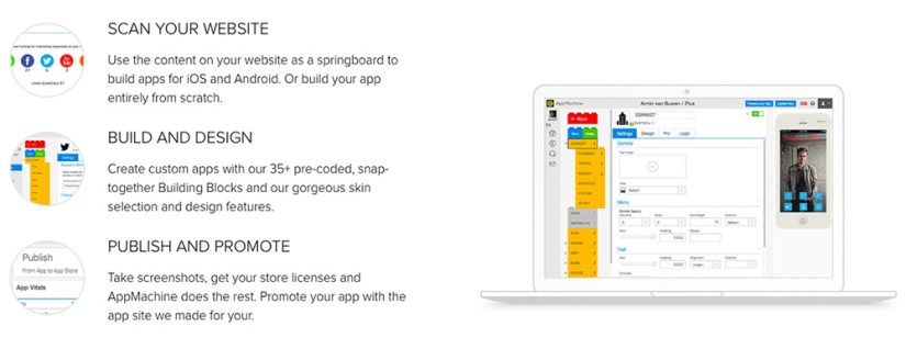 AppMachine Mobile App Building Platform