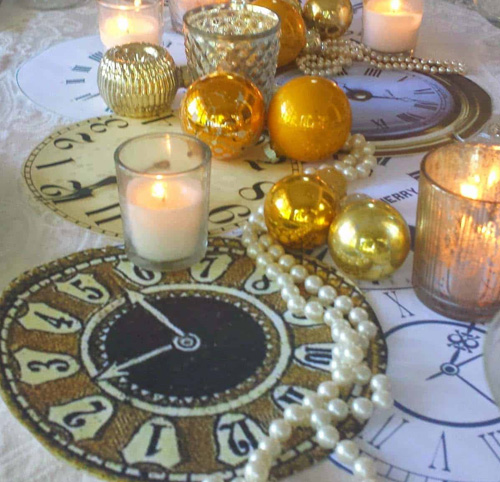 New Year Festive Party Table Decoration