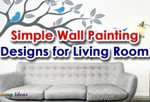 Simple Wall Painting Designs for Living Room