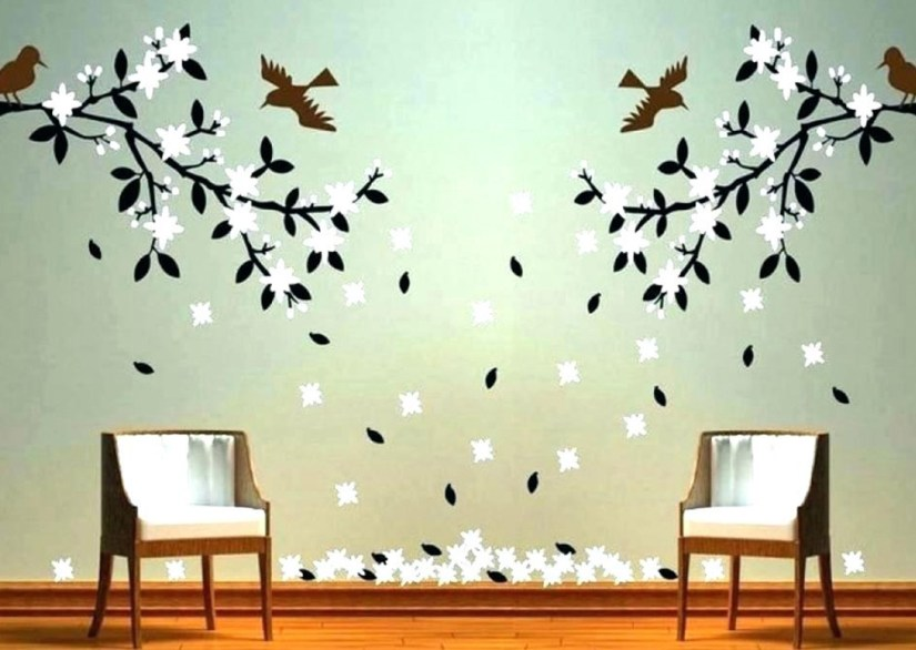Wall Decor With Birds And Flowers