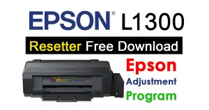 Epson L1300 Resetter Adjustment Program
