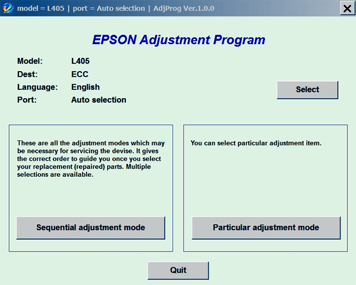 Epson L405 Resetter Adjustment Program Free Download Blowing Ideas