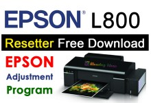 Epson L800 Resetter Adjustment Program