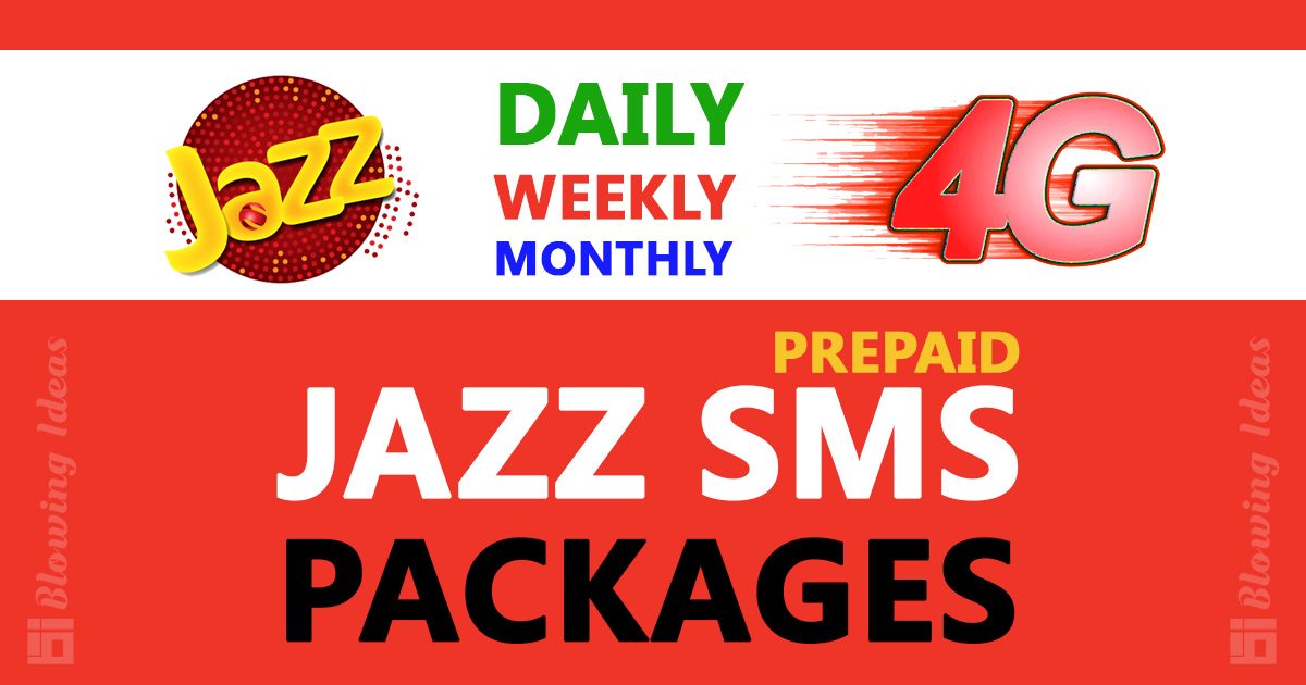 Jazz SMS Packages Daily Weekly Monthly