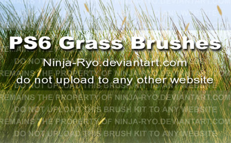 PS6 Grass Brushes