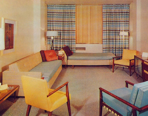 1960s Living Room Interior Decoration