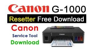 Canon G1000 Resetter
