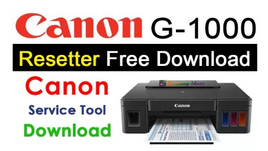 Photo of Canon G1000 Resetter Free Download Reset Utility