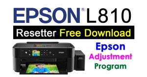 Epson L810 Resetter Adjustment Program Free Download