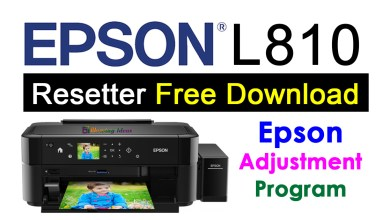 Photo of Epson L810 Resetter Adjustment Program Free Download