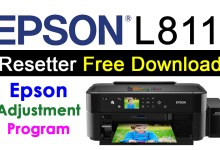 Photo of Epson L811 Resetter Adjustment Program Free Download