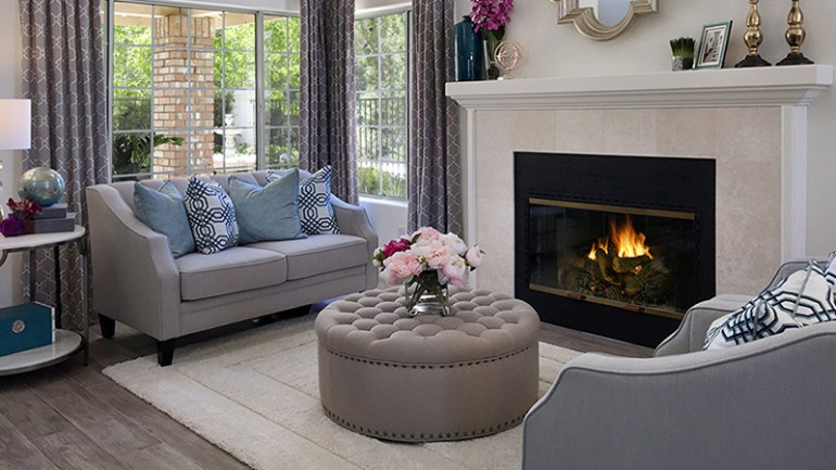 Room Decor Ideas with Fireplace