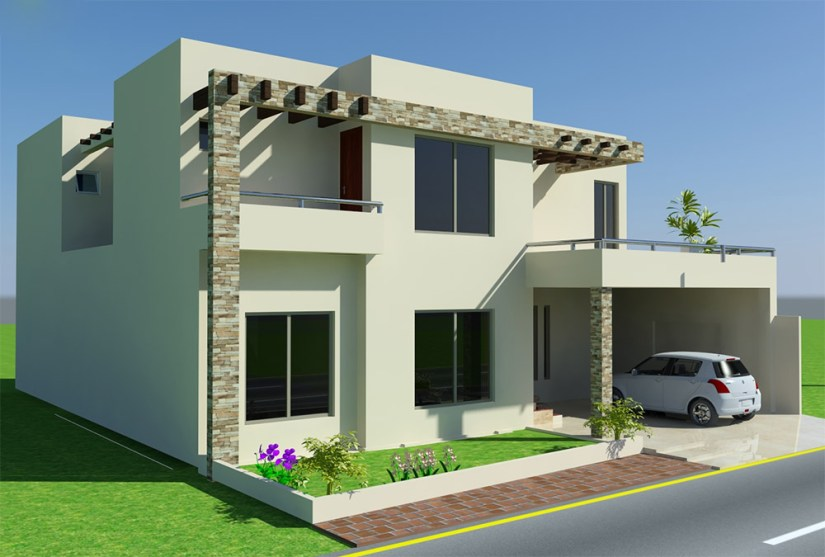 4 Marla House Front Style