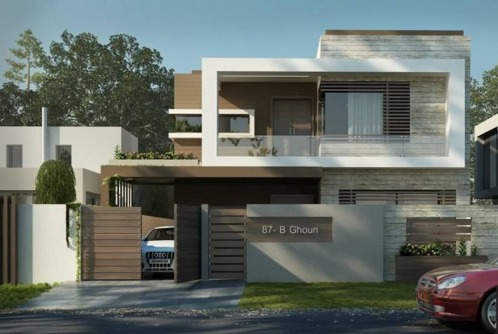 Contemporary House Design of 10 Marla