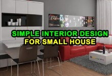 Simple Interior Design for Small House
