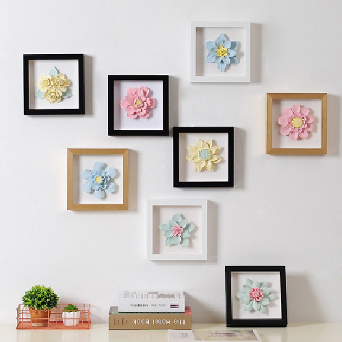 3D Flowers Frame Wall Decoration