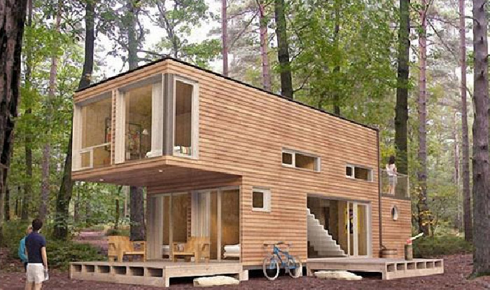 Budget Friendly House Design with Cargo Container
