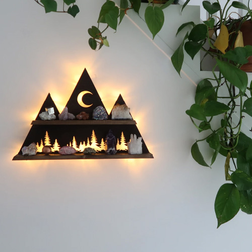 Forest Mountain and Moon light Shelf