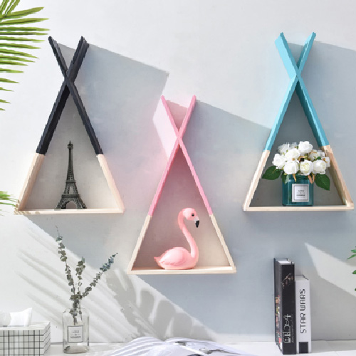 Nordic Style Triangular Storage Shelves