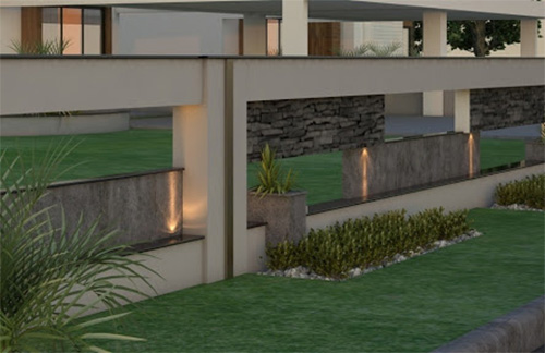 Outdoor Boundary Wall