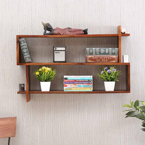 Sheesham Wood Floating Wall Shelf