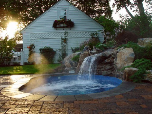 Small Waterfall Design For Pool