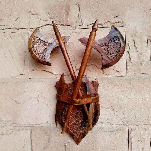 Wooden Axe Wall Hanging Craft