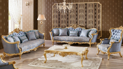 Wooden Royal Sofa Set Design