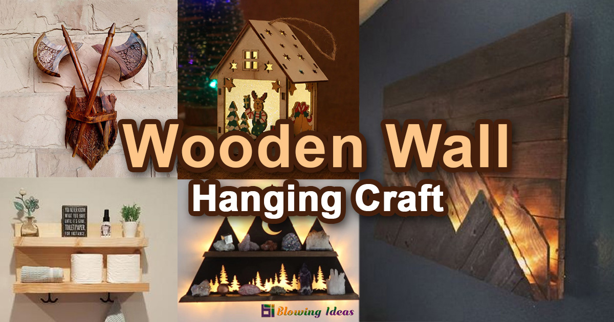 Wooden Wall Hanging Craft deas