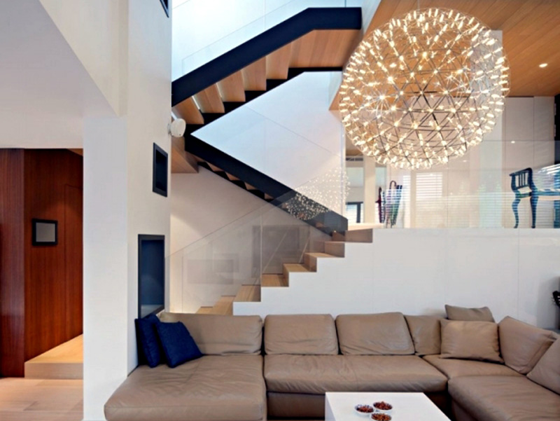 Modern Stair In Living Hall