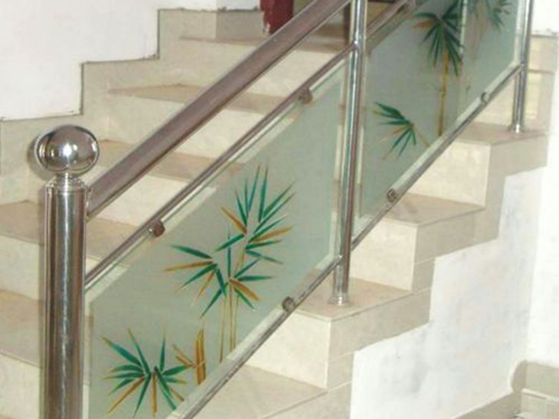 Stainless Stair Glass Railing