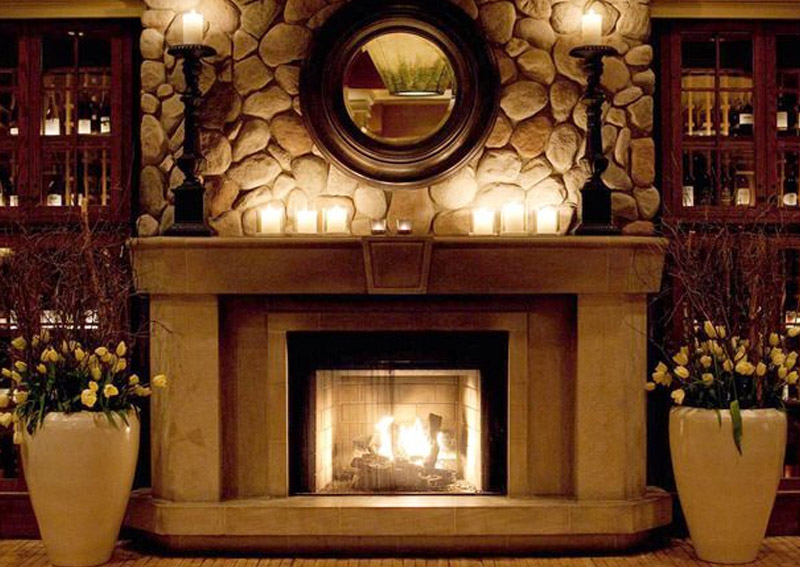 Fireplace Design With Stones