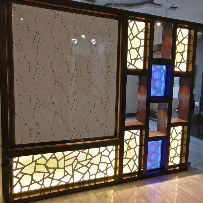 Wooden CNC Jali Partition