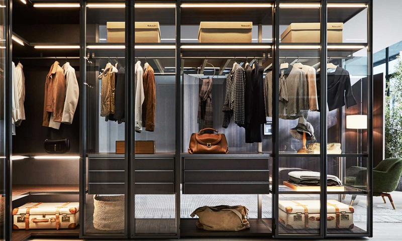 Glass Sliding Wardrobe