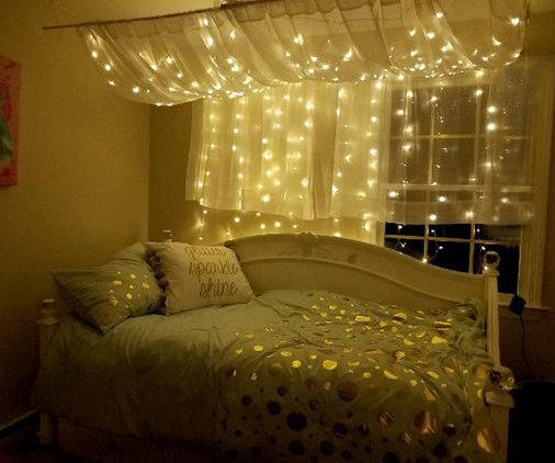 String Light Bedroom