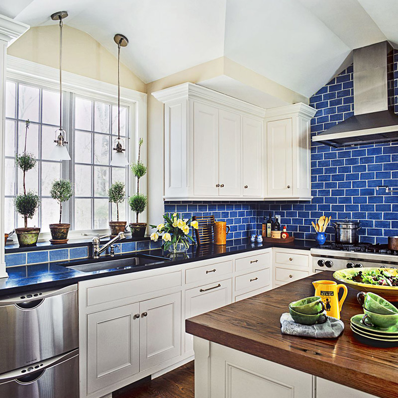 Blue Kitchen Wall Tiles