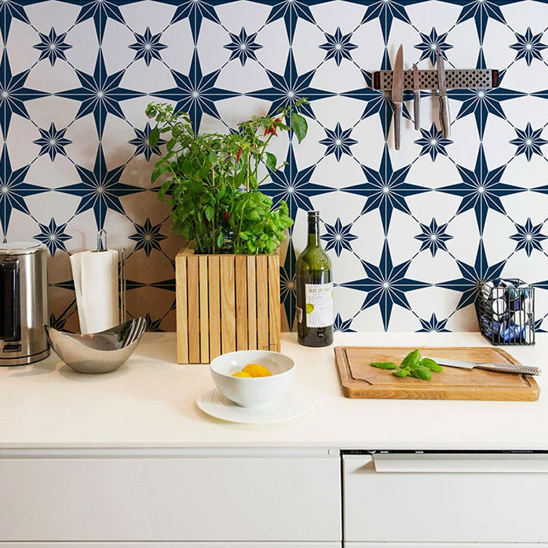 Blue And White Kitchen Tiles