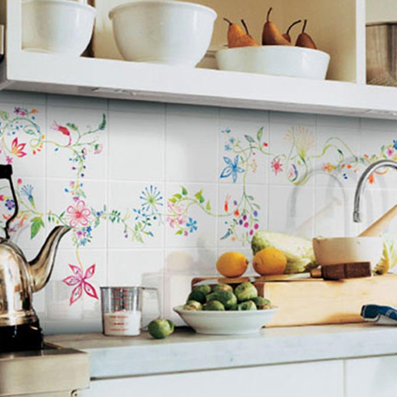 Hand Painted Wall Tiles For Kitchen