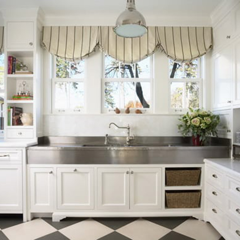 Traditional White Kitchen Curtains