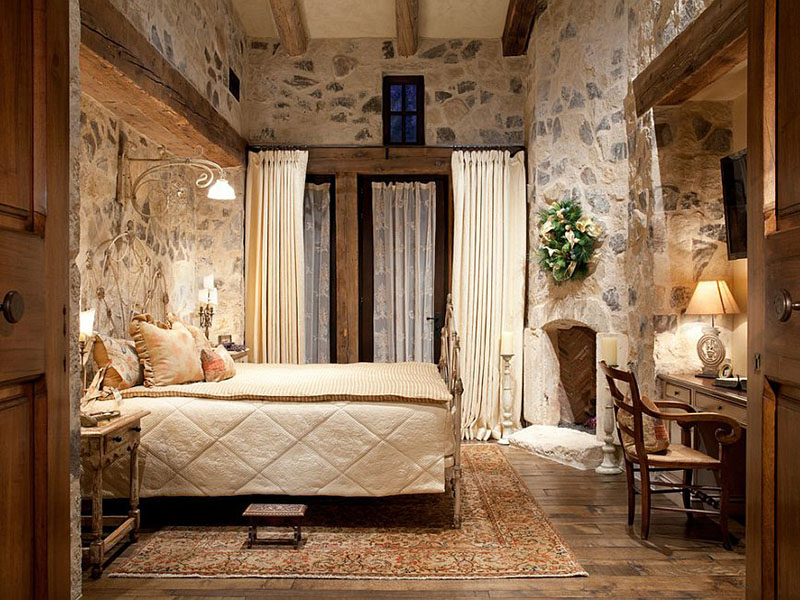 Warmth Stone To The Comfy Bedroom