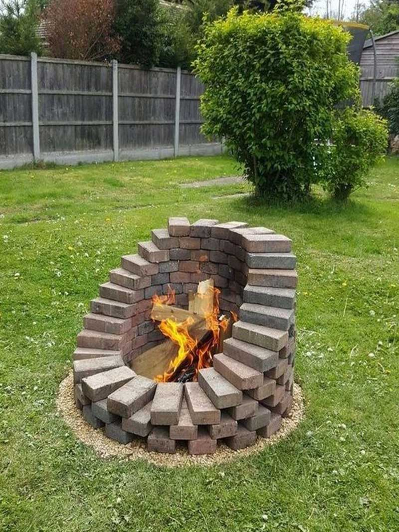 Affordable Brick Fire Pit