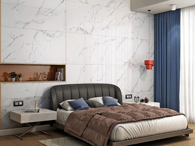 Bedroom Wall Tile Cool White Color