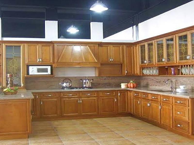 Brown Wood Kitchen Cabinet