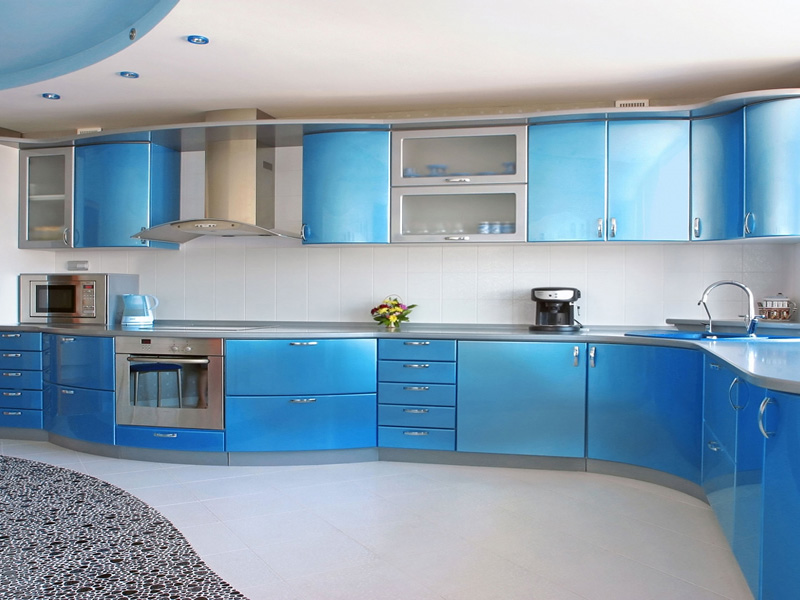 Coloured Kitchen Cabinet