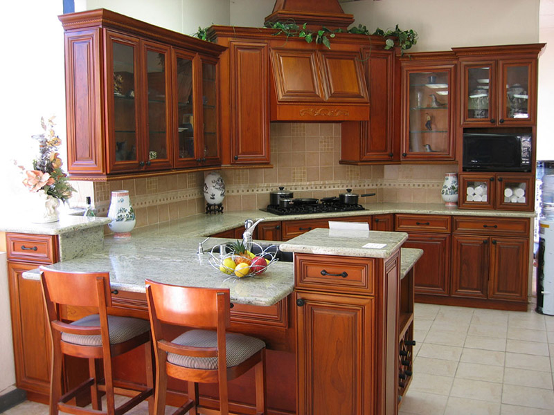 Cozy Style Wooden Kitchen Cabinet