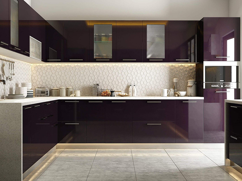 Dark Purpal Kitchen