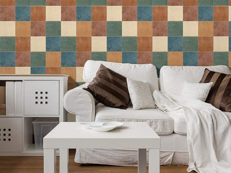 Mix Colored Texture Wall Tiles Livingroom