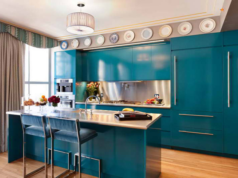 Modern Kitchen Cabinet Blue